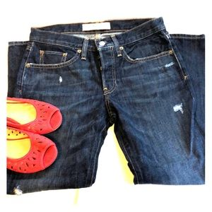 Gap button fly relaxed boyfriend jeans 26P